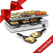 Appareil à raclette pour 8 Grill de table pierre naturelle Cuisson Plancha 1200W