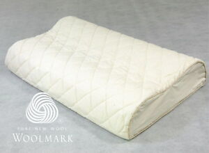 Contoured Removable/Washable Wool-Layered Pillow Protector Organic Cotton Cover