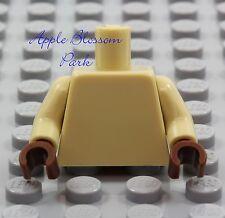 NEW Lego Girl/Boy Minifig Plain TAN TORSO Star Wars Brown Hands Blank Body Upper