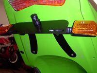 R&G Tail Tidy / Licence Plate Holder Kawasaki Z750S 2006 LP0001BK Black