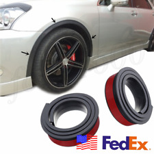 2x 55mm Wheel Panel Strip Black Rubber Car Fender Flares Sticker Universal USA