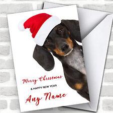 Funny Dachshund Sausage Dog Animal Customised Christmas Card