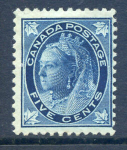 Canada 1897-8 5c deep blue with maple leaves mint (2019-09-18#09)