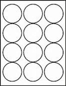 Round Labels, L3416. 63mm dia Labels Stickers for A4 Laser & Inkjet Printers