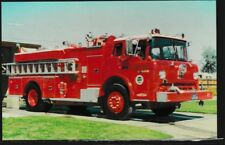 Fire Truck postcard Tulare County F.D. California unposted