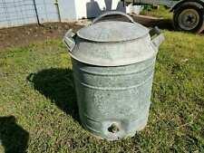 Vintage Cooler 5 gallon Galvanized Water Jug Garden Yard Decor Country Primitive