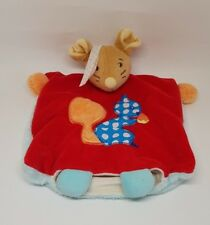 Doudou Marionnette Souris marron rouge écureuil bleu Kaloo Colors K963263 NEUF