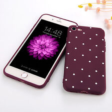 For iPhone 6 Plus 6s Plus Slim Shockproof Silicone Polka Dot PC Case Cover Skins