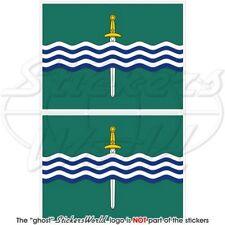 "PETERBOROUGH Flag Ontario Canada Canadian Vinyl Bumper Sticker Decal 75mm(3"") x2"