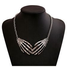 HOT Punk Gothic Skull Hand Skeleton Choker Necklace Pendant Statement Chain Gift