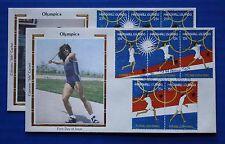 "Marshall Islands (188-189) 1988 Summer Olympics, Seoul Colorano ""Silk"" FDCs"