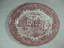 "Ravensdale Pottery Ltd. Pink 12"" Oval Platter made in Staffordshire England"
