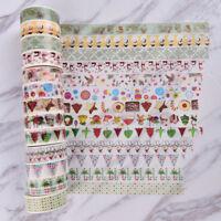 Christmas Washi Tape Paper Masking Sticky Adhesive Roll Craft Decorative HGUK