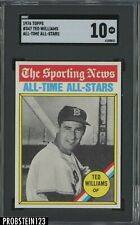 1976 Topps All Time All Stars #347 Ted Williams Red Sox HOF SGC 10 GEM MINT