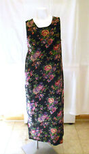 TY Floral sleeveless Sundress casual full-length linen & rayon sz 10 multi-color