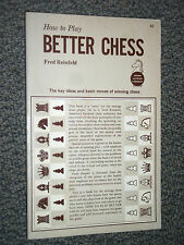 How To Play Better Chess by Fred Reinfeld 1961 Key Ideas Basic Moves To Win