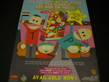SOUTH PARK Hottest Action Stars Of Summer 1999 PROMO POSTER AD mint condition