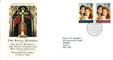 22 LUGLIO 1986 MATRIMONIO REALE ROYAL MAIL FIRST DAY COVER Bureau SHS (W)