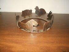 VINTAGE HAND CUT METAL FOLK ART PIECE ANIMAL SHADOW CASTER