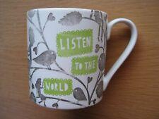Rob Ryan Listen to the World Ceramic Mug (colour faded)