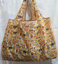 Cute Yellow Gudetama Foldable Shopping Bag Eco-friendly Large Capacity Reusable