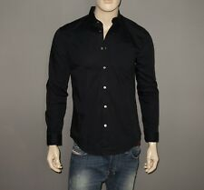 $198 NEW John Varvatos Shirt in Black Size Small 33/34 NWT Button-Down Cotton
