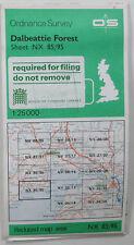1985 old OS Ordnance Survey Pathfinder 1:25000 map Dalbeattie Forest NX 85/95