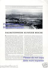 Dachsteinwerk Kunitzer Weiche Reklame & Historie von 1925 Liegnitz Werbung ad