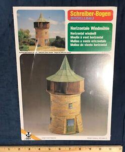 Schreiber-Bogen Card paper Model Horizontal Windmill Vintage Germany 1:50