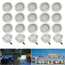 20Pcs 45mm 12V 1W LED Deck Light Outdoor Garden Yard Path Stair Step Patio Lamp