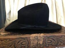 Resistol Western 15X Diamond Horseshoe Mens Black Gus Crease Cowboy Hat - 7 1/8