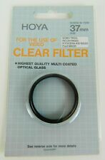 Hoya  HMC 37mm Double Threaded Clear Filter Multi Coated Optical Glass - Japan