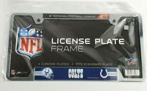 WinCraft Indianapolis Colts NFL Chrome Metal License Plate Frame NEW