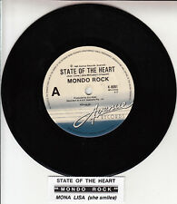 "MONDO ROCK State Of The Heart 7"" 45 rpm vinyl record + juke box title strip NEW"