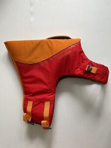 Ruffwear Float Coat, Red/Orange, Size Large