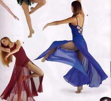 NWT Ballroom Lyrical Contemporary Dress strappy back Royal blue Small A Costume