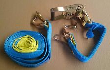 2 Pack of Ratchet Tie Down Straps - 35mm x 6.0m - 1500kg