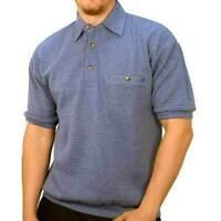 Palmland Big and Tall French Terry Short Sleeve Banded Bottom Polo Shirt