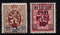 Timbres de Belgique ref COB N° 315 --> 316  Neuf **,  MNH