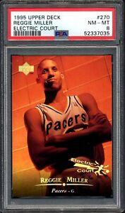 1995 Upper Deck Electric Court Gold #270 Reggie Miller PSA 8 NM-MT, Pop 1 of 1
