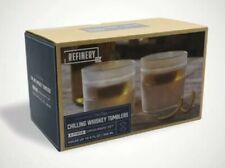 Refinery Chilling Whiskey Tumblers 2-piece Drinkware Set Freeze Goodbye Ice 9 oz