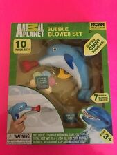 ANIMAL PLANET DOLPHIN BUBBLE BLOWER SET NEW