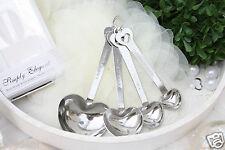 Messlöffelset Herz als Gastgeschenk, Giveaway Hochzeit sehr edel silber Candybar