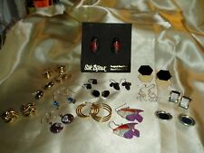 JEWELRY BOX CLEAN OUT...16 Pair Pierced Earrings, Opal lite Nuggets, Glass More