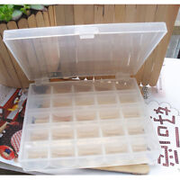 New 25 Spools Empty Bobbins Sewing Machine Bobbin Case Organizer Storage Box