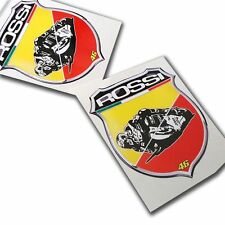 Rossi 46 the doctor  ABARTH badge style stickers  motorcycle decals  graphic x 2