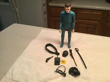 Vintage Louis Marx  Action Figure Captain Maddox Blue  W/ Accessories Used