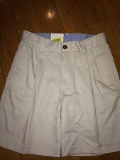 New listing Nwt Khaki shorts boys Class Club uniform school pleated Sz 7 Adjustable Waist