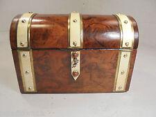 Antique Walnut Domed Tea Caddy Box  ref 738
