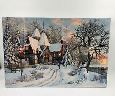 45×30×1.5CM CHRISTMAS DECORATION LIGHT UP LED CANVAS WALL ART PICTURE BRAND NEW.